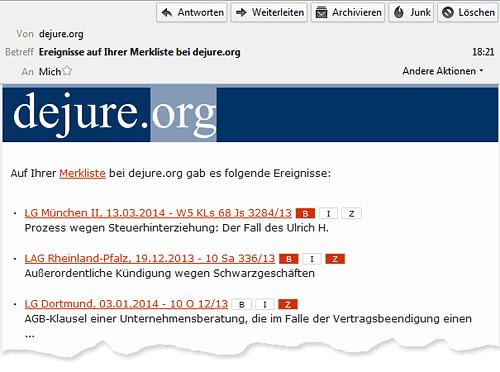 Screenshot 02: Benachrichtigungs-E-Mail
